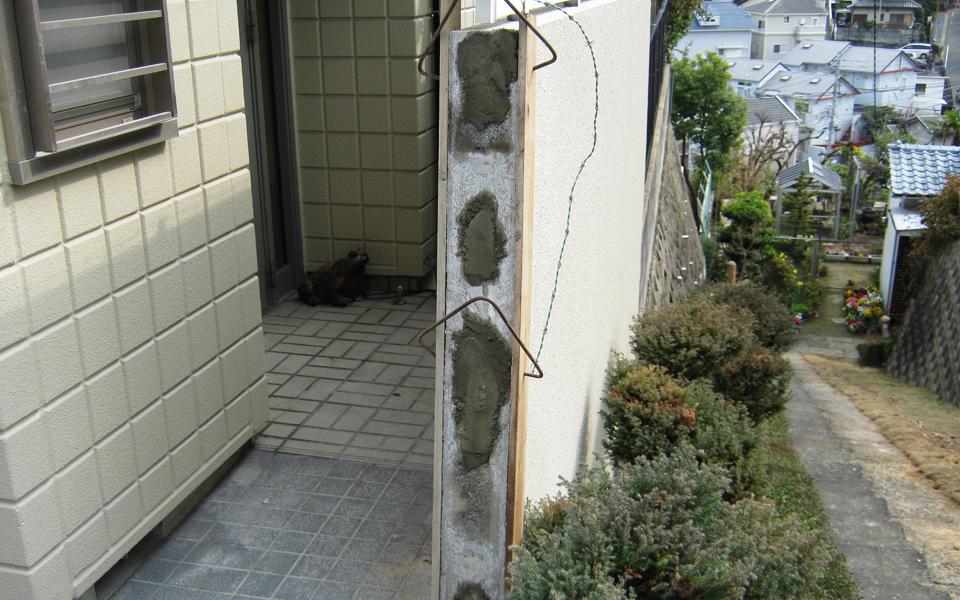 塀の改修工事